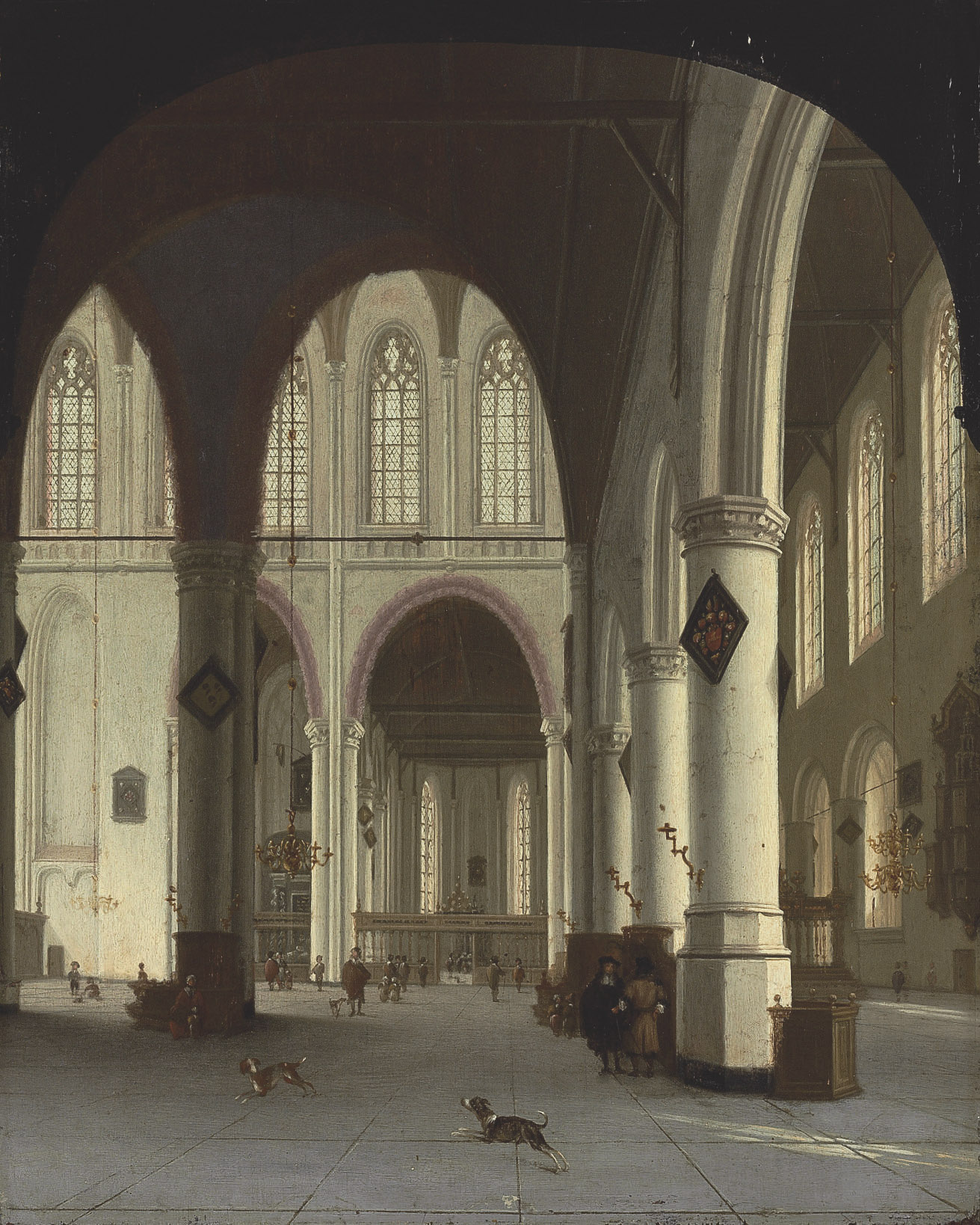 Interior of the Oude Kerk, Delft