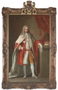 Portrait of Peregrine Osborne, 3rd Duke of Leeds (1691-1731), full-length, in coronation robes