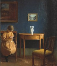 Girl in an interior