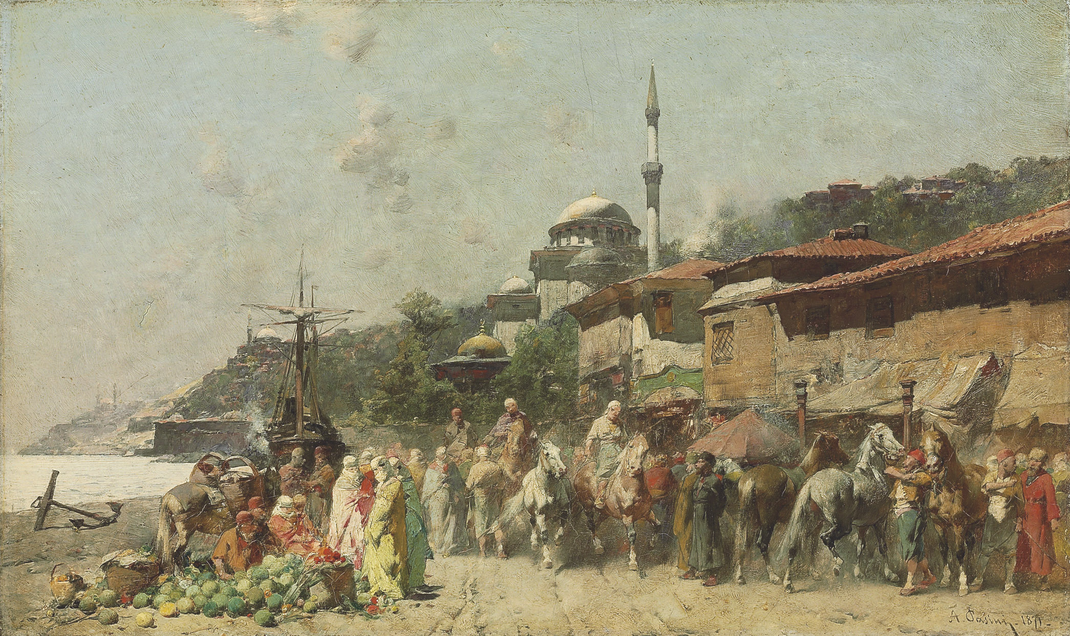 A market on the Bosphorus
