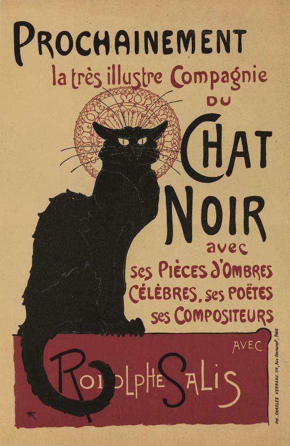 Tournée du Chat Noir de Rodolphe Salis (Bargiel & Zagrodzki 22 B1; Crauzat 496)