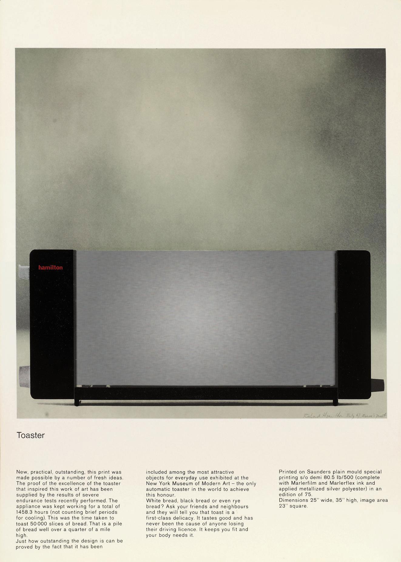 Image result for richard hamilton toaster