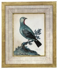 A GEORGE III EMBOSSED BIRD PICTURE