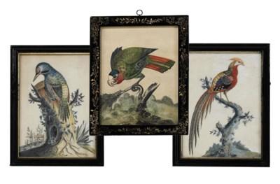 THREE GEORGE III EMBOSSED BIRD