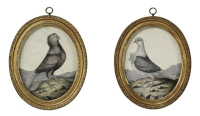 A PAIR OF GEORGE III OVAL EMBO