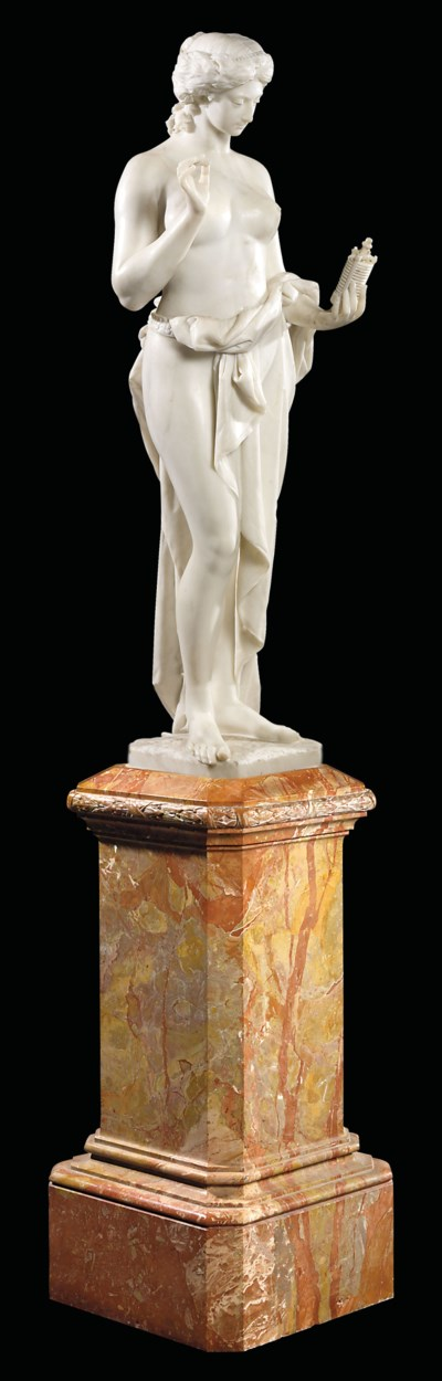 AN FRENCH/ITALIAN MARBLE FIGUR