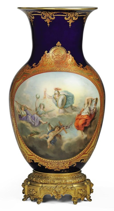 AN ORMOLU-MOUNTED SEVRES STYLE