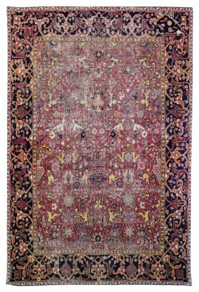 A Safavid Vase Rug Kirman South East Persia Second