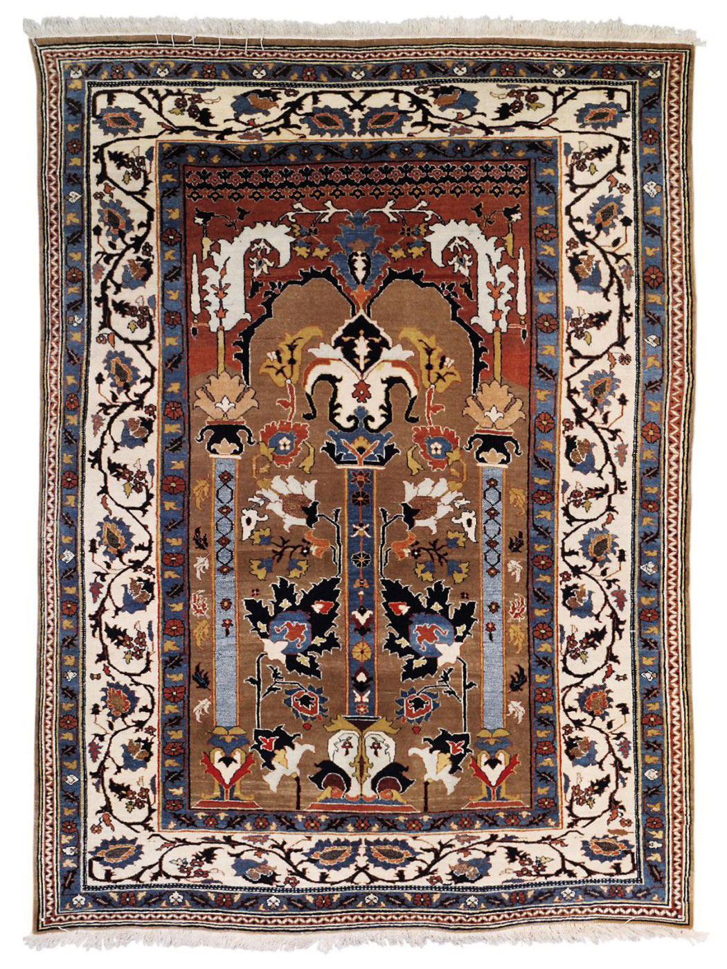 A TABRIZ PRAYER RUG