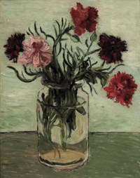 Carnations in a Glass Jar