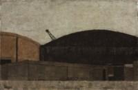 Crane in a landscape
