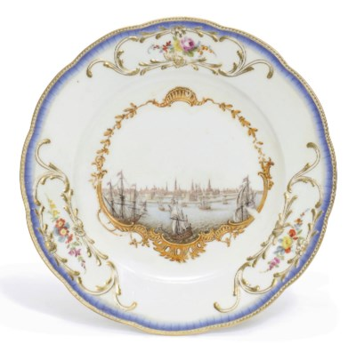 A MEISSEN PLATE FROM THE STADH