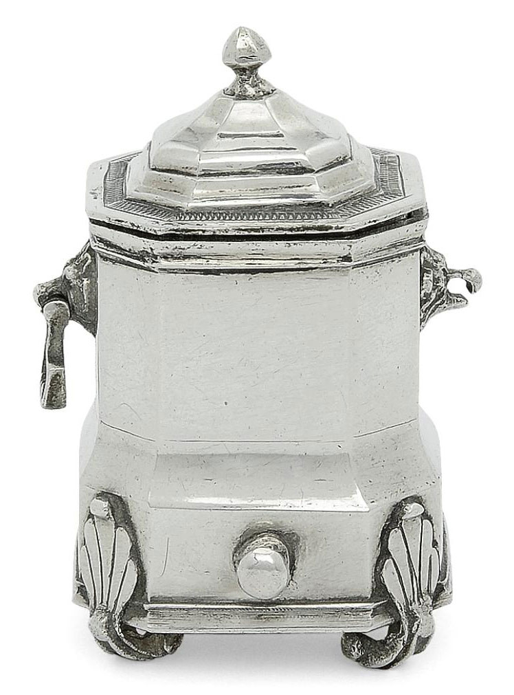 A DUTCH SILVER MINIATURE TOY CONTAINER