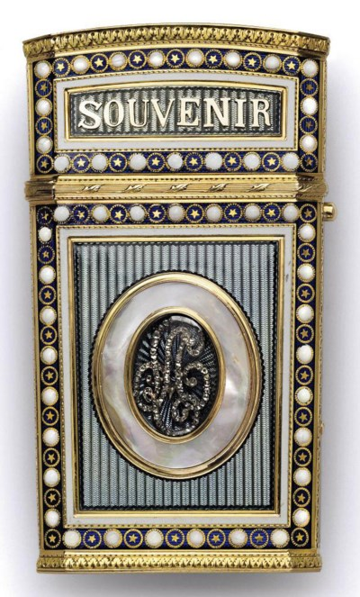 A SWISS GOLD-MOUNTED ENAMELLED