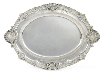 A WILLIAM IV SILVER MEAT-DISH