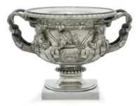 A VICTORIAN SILVER WINE-COOLER, COLLAR AND LINER