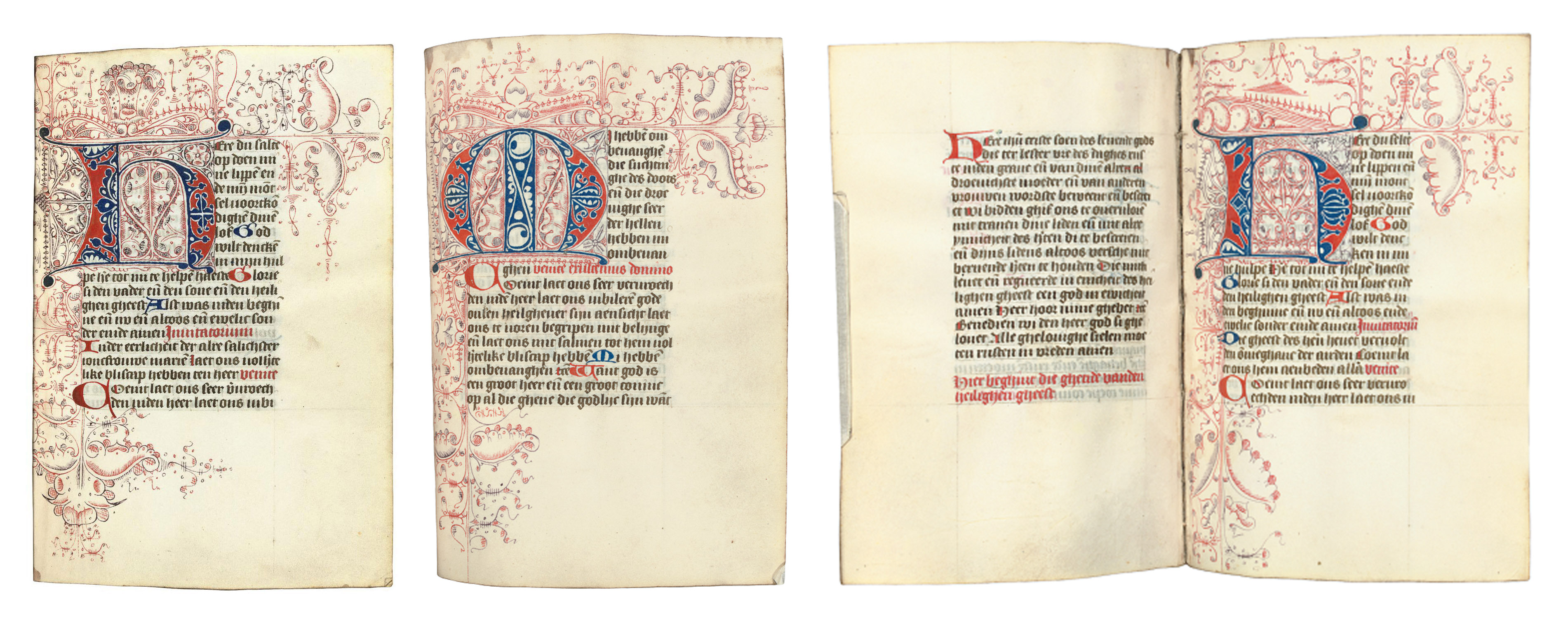 BOOK OF HOURS, use of Utrecht, in Dutch, DECORATED MANUSCRIPT ON VELLUM