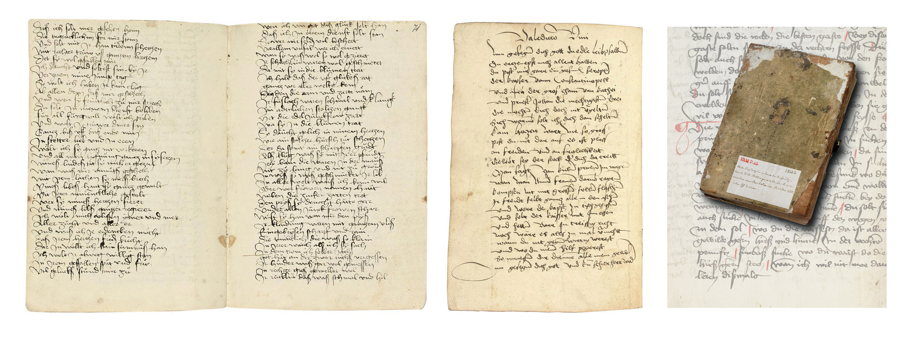 LITERARY SAMMELBAND, including Minne songs, Klopfan verses, toasts, hunting texts, the language of flowers, obscene poems and fables, in German, MANUSCRIPT ON PAPER