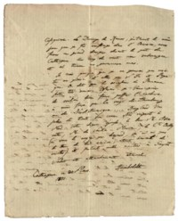 HUMBOLDT, Alexander von (1769-1859). Autograph letter signed ('Humboldt') to an unidentified recipient (presumably in Cuba, possibly Juan de la Cuesta), Cartagena [modern Colombia], 30 March 1801, in French (some phrases in Spanish), 2 pages, 4to, integral blank, docketed 'Humblot' (wear to integral blank).