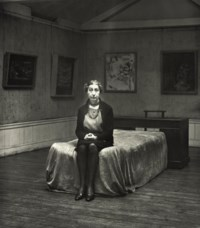 Helen Lessore in the Beaux Arts Gallery, early 1960s