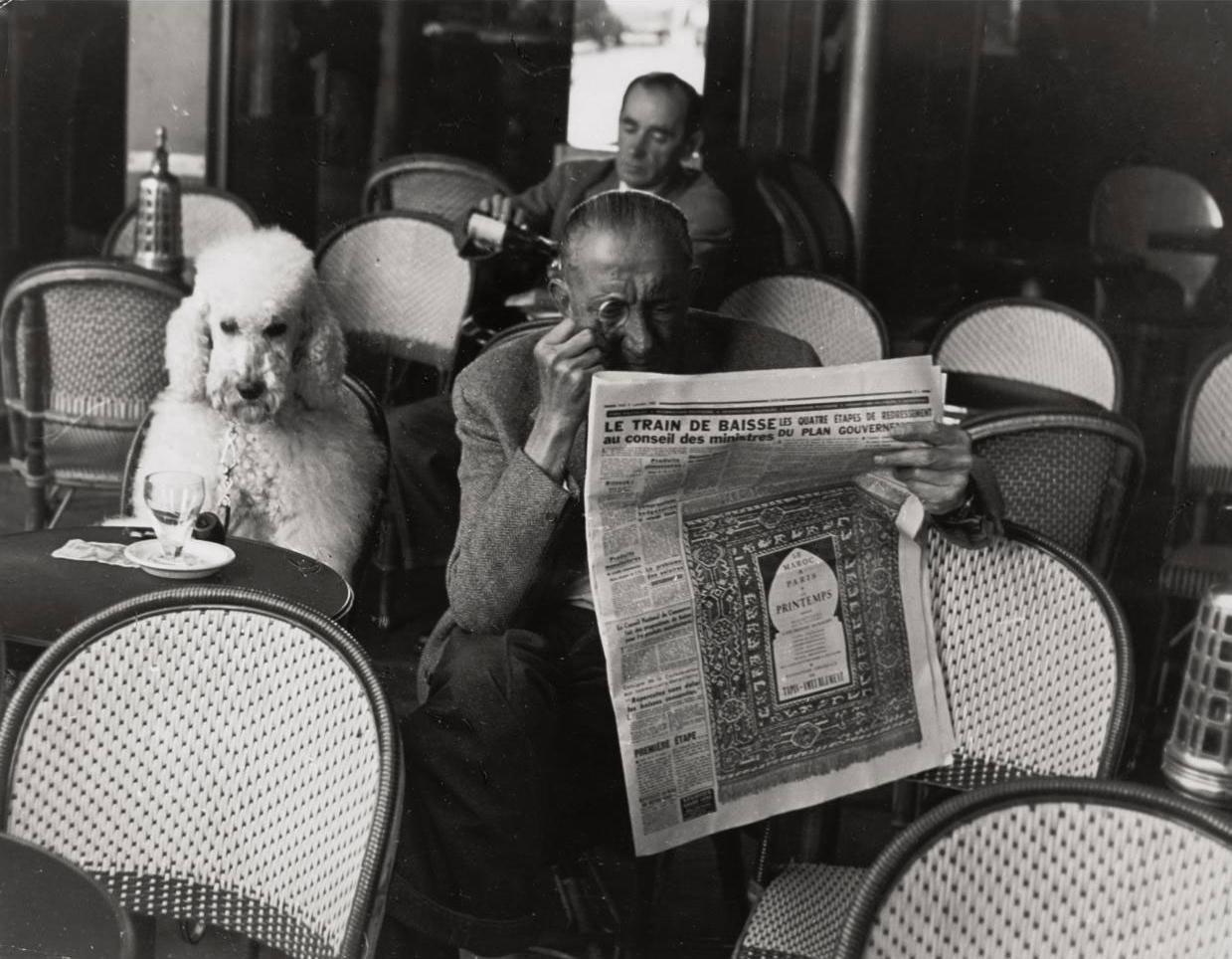 Edouard Boubat 1923 1999 Cafe De Flore 1953 1950s - Fotos-de-flore