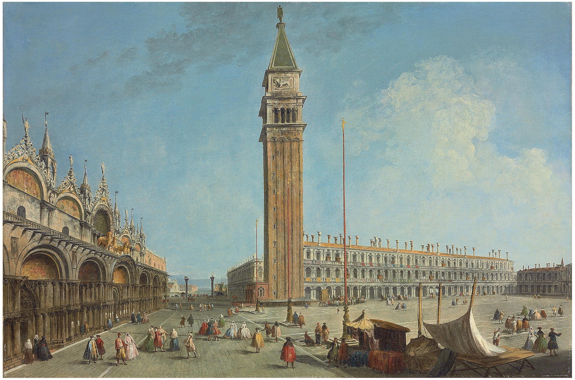 The Piazza San Marco, Venice, from the Torre dell' Orologio, looking south