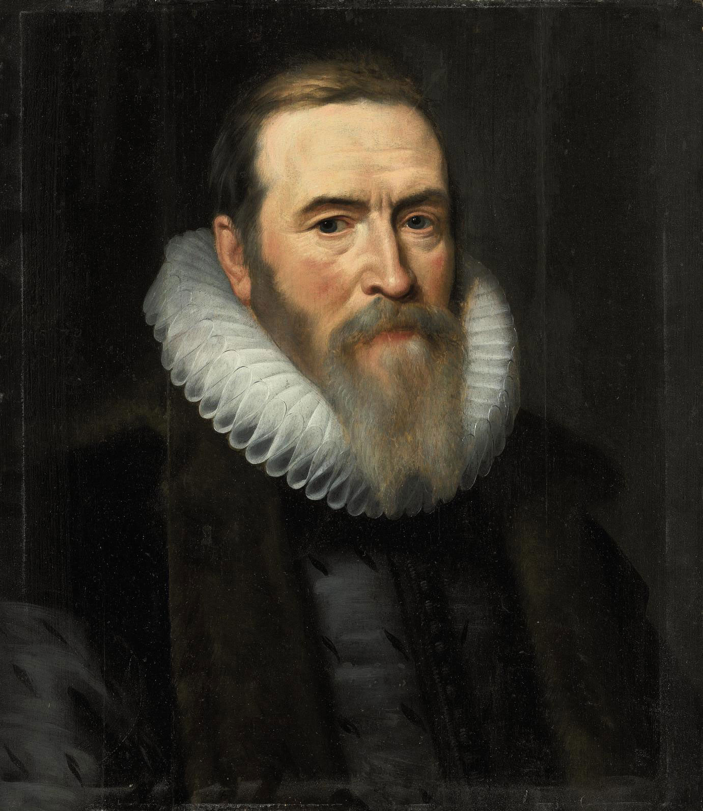 Portrait of Johan van Oldenbarnevelt (1547-1619), bust-length, in a fur-lined coat and white ruff
