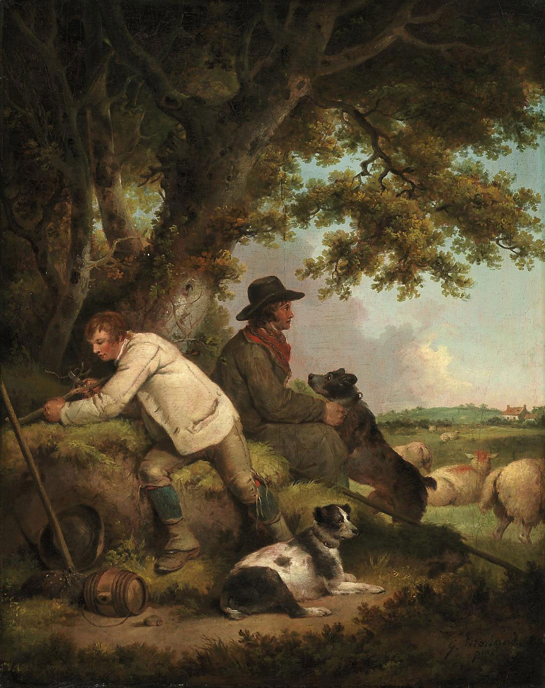 Shepherds reposing