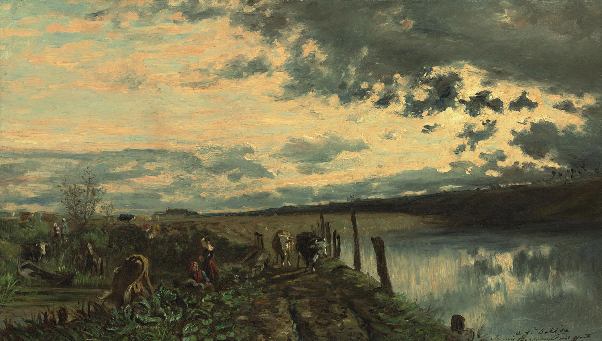 Soleil couchant à Seine Port