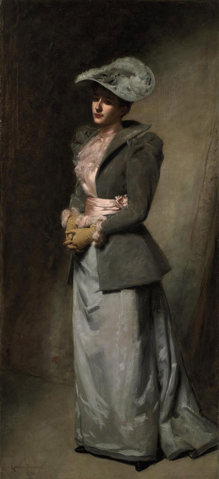 La dame en gris (portrait of the artist's daughter, Sabine)
