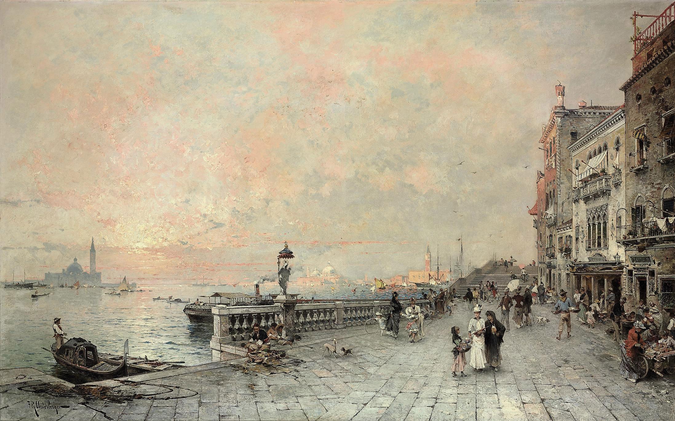 The Riva dei sette Martiri, looking towards the Ponte de la Veneta Marina, Venice