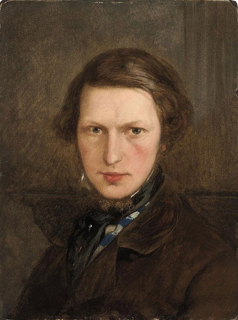 Self Portrait, bust-length, in a brown coat