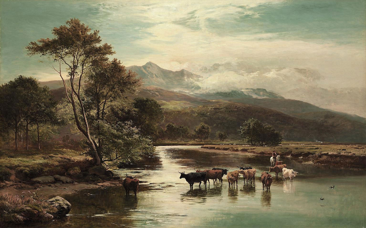 Fording the River Mawddach, Cader Idris, North Wales