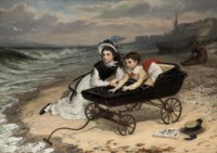 """""""What are the wild waves saying?"""" Florence and Paul Dombey from Dombey & Son, by Charles Dickens"""