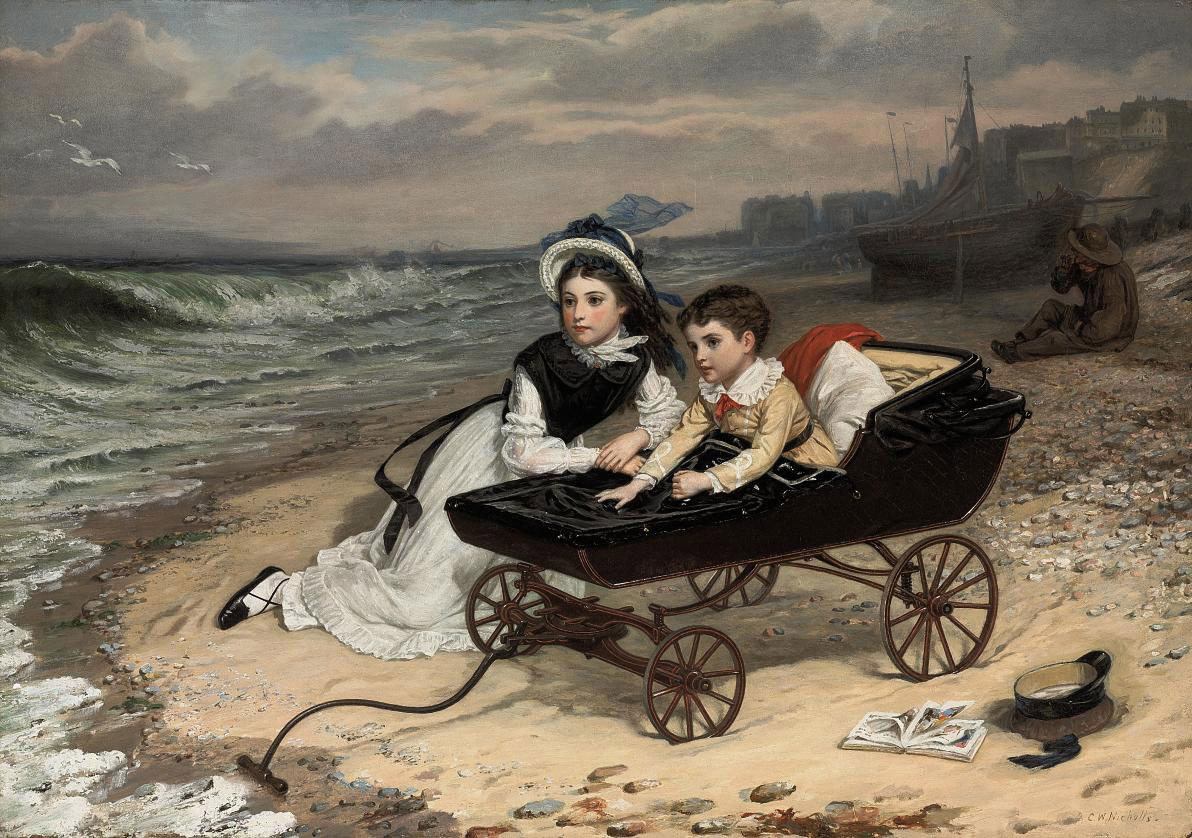 """What are the wild waves saying?"" Florence and Paul Dombey from Dombey & Son, by Charles Dickens"