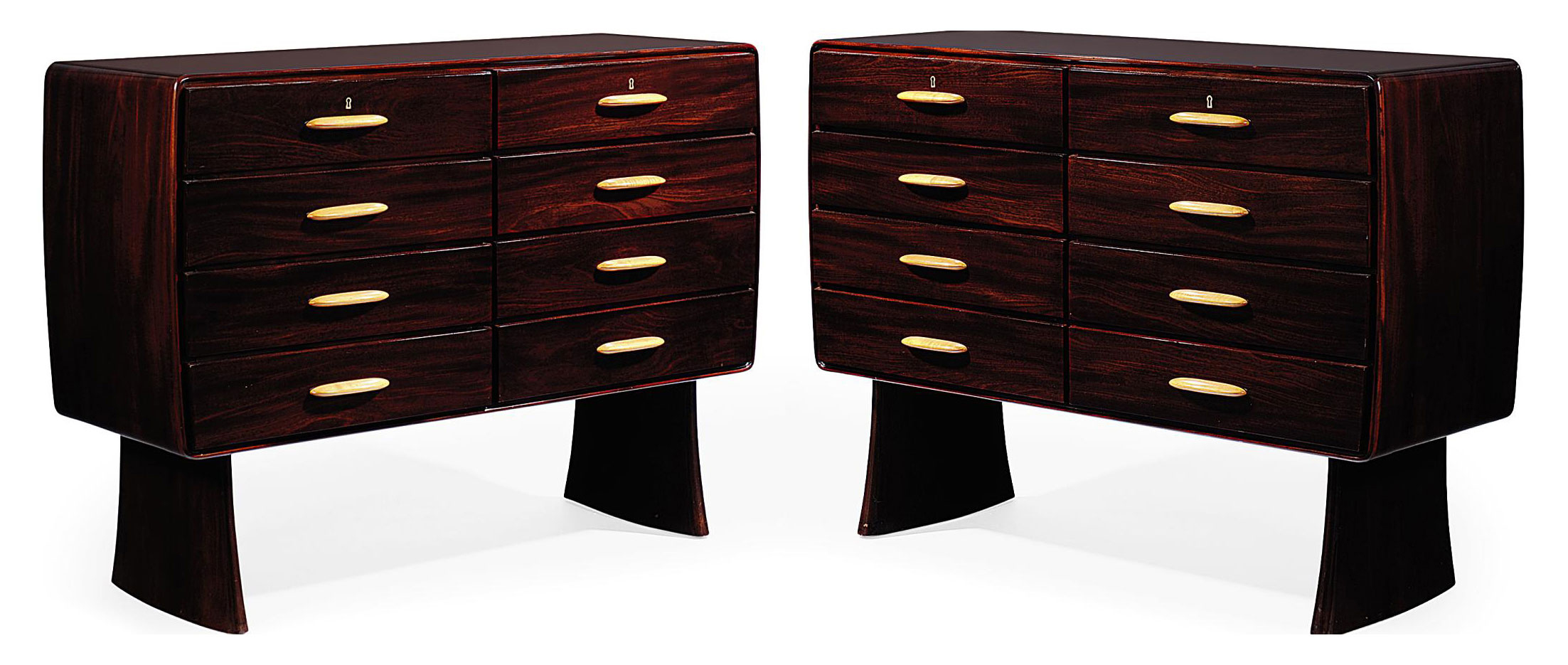 A ULRICH GUGLIELMO PAIR OF COMMODES