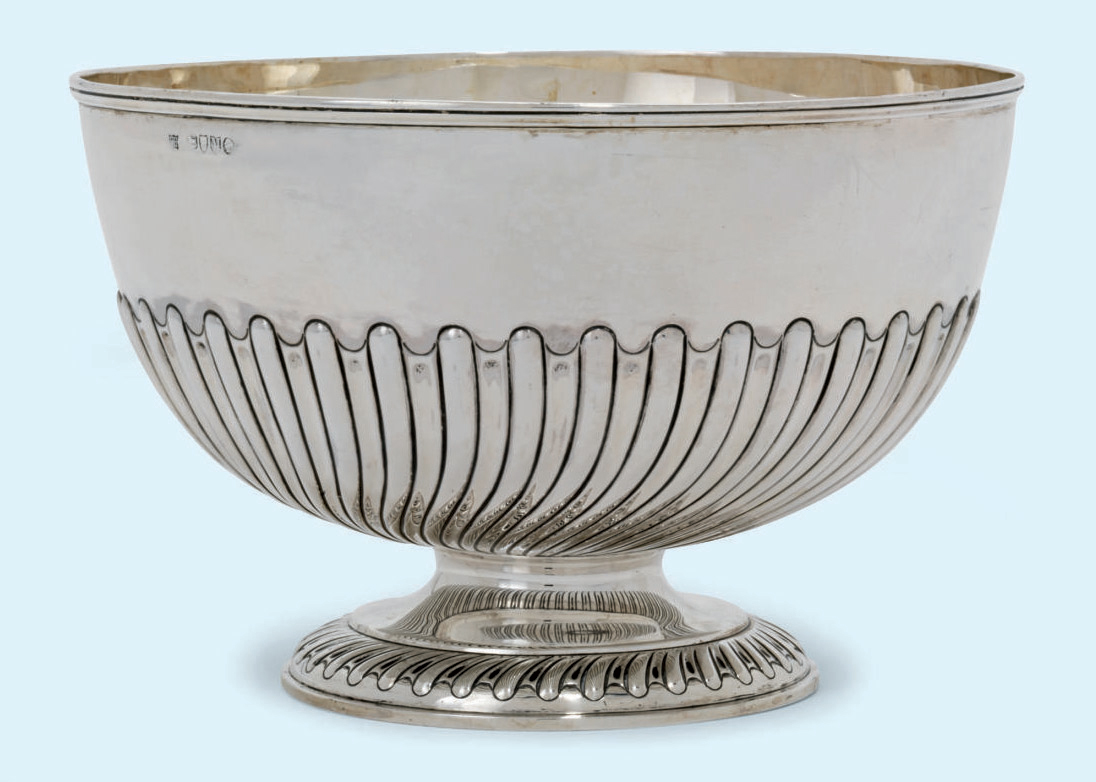 A VICTORIAN SILVER ROSE-BOWL