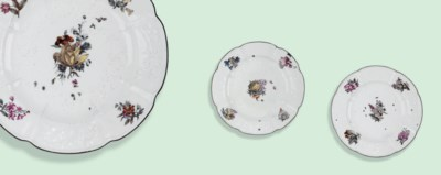 THREE MEISSEN SHAPED CIRCULAR