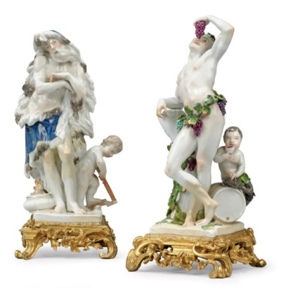 A PAIR OF FRENCH ORMOLU AND PO