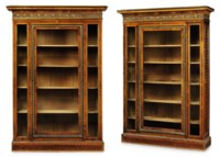 A PAIR OF LOUIS XVI ORMOLU-MOUNTED TULIPWOOD, SYCAMORE AND PARQUETRY BIBLIOTHEQUES