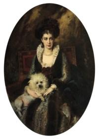 Portrait of the artist's wife, Maria Alekseevna Makovskaya (née Matavtina) (1869-1919)