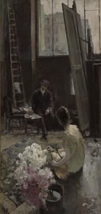 In the artist's studio