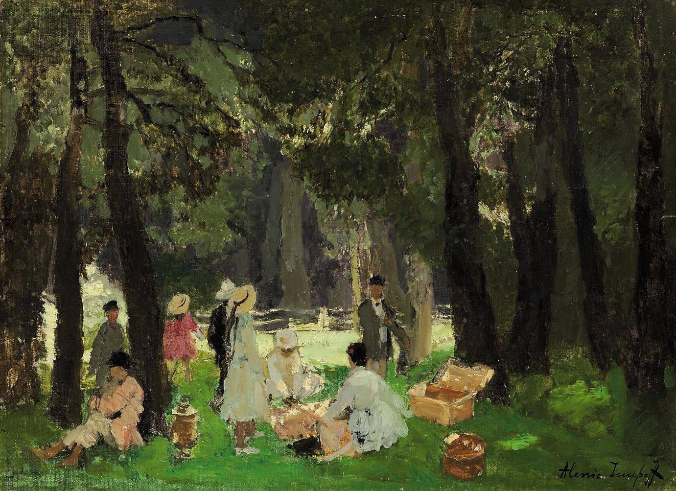 A picnic in the forest