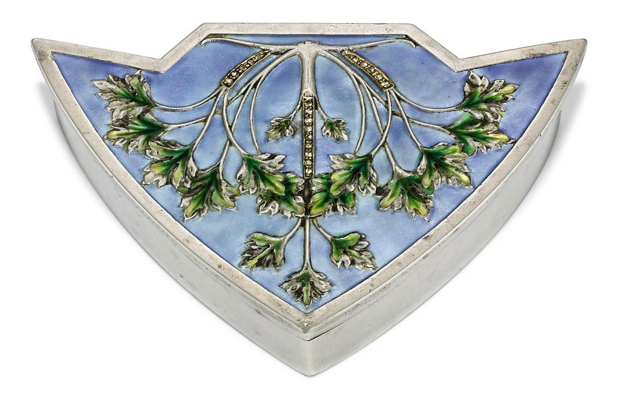 A Jewelled and Enamelled Silver Snuff-Box