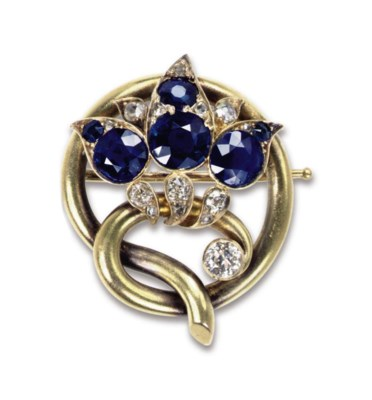 A Jewelled Gold Brooch