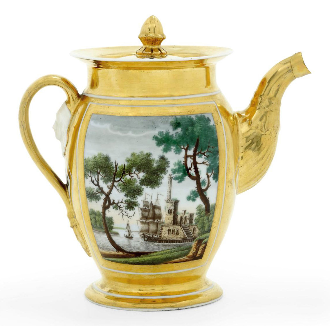 A Porcelain Coffee Pot