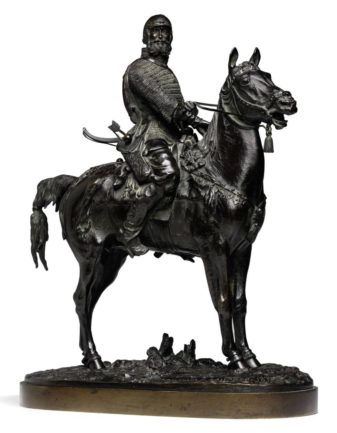A Bronze Group of an Oprichnik (Prince Viazemsky)