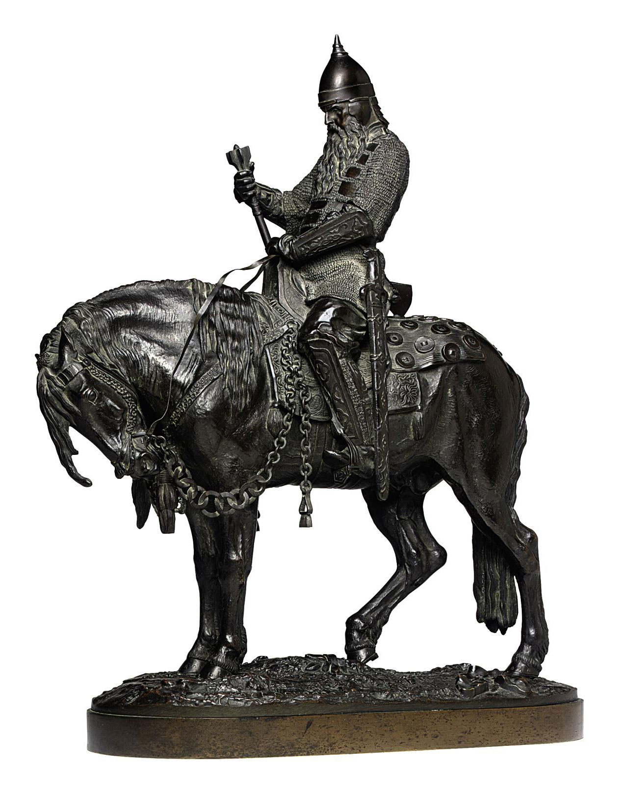 A Bronze Group of a Voivode (Boyar Morozov)