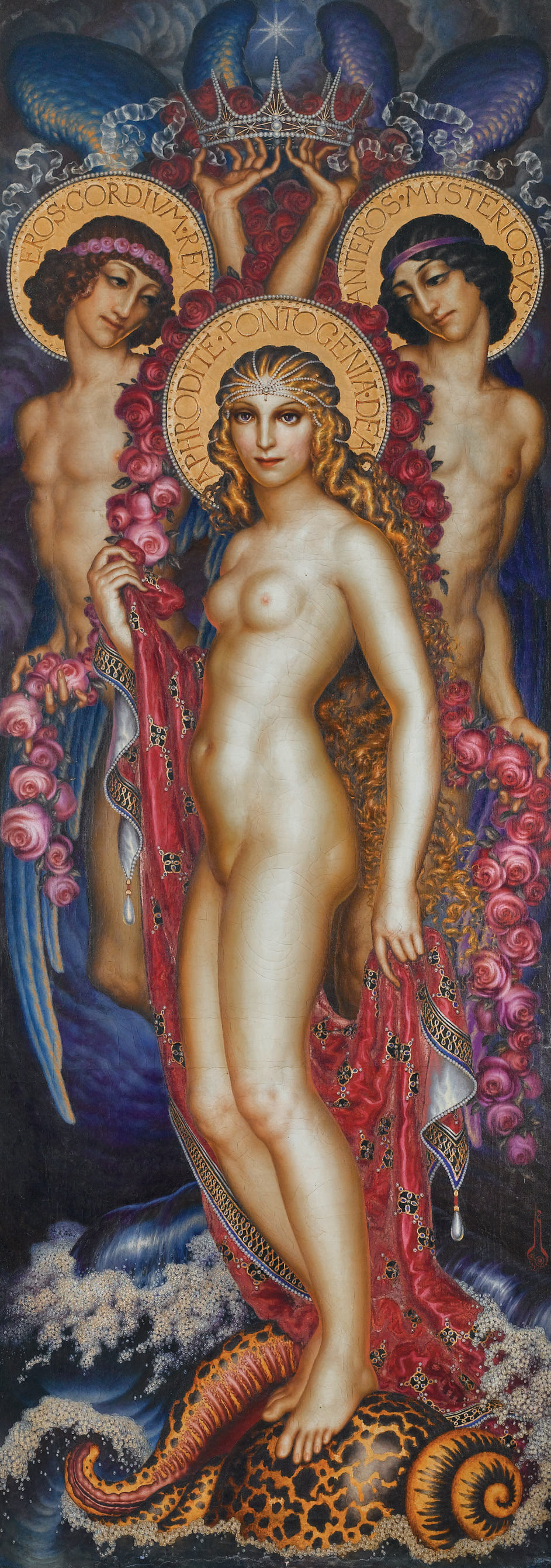 Aphrodite with Eros and Anteros
