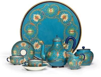 A Porcelain Tête-à-Tête Tea Se